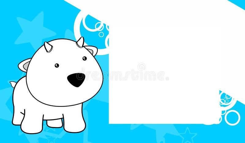 Sweet Baby Goat Cartoon Frame Background Stock Vector - Illustration ...