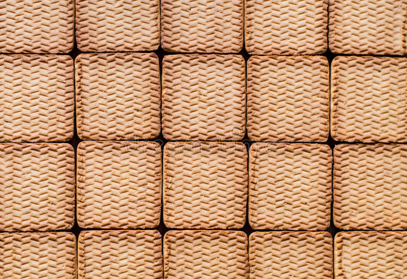 Texture of cookies. Background made of cookies royalty free stock photos