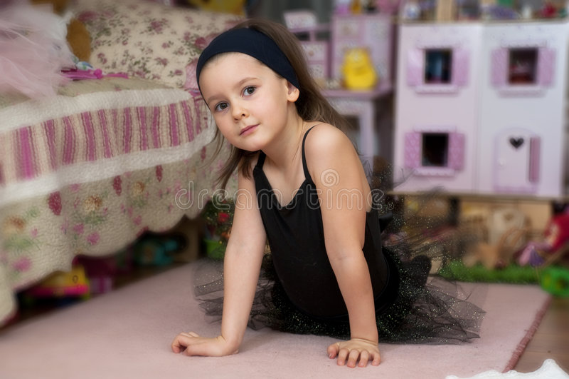 Download Sweet ballerina girl stock image. Image of girl, romantic - 7673025