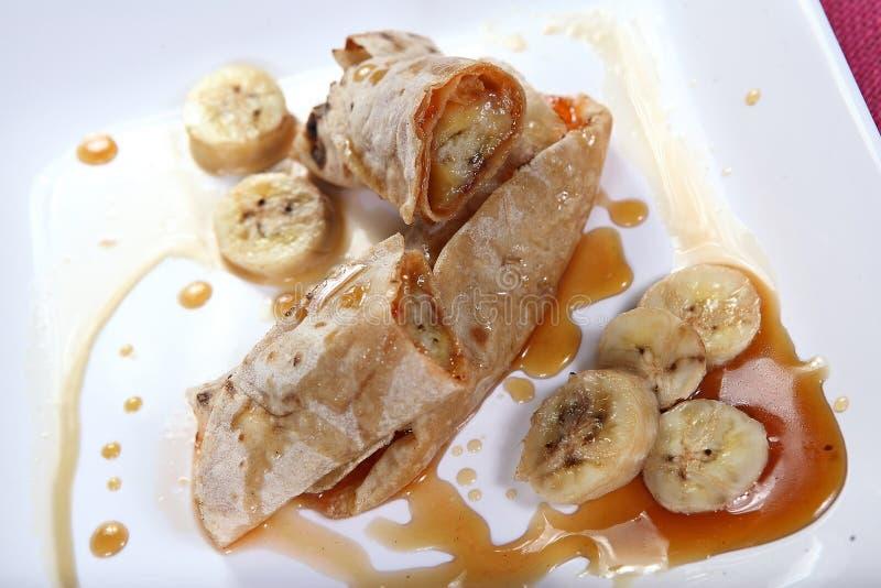 Sweet banana rolls royalty free stock photos