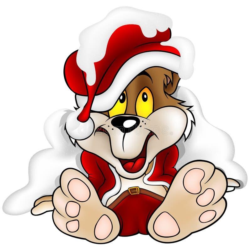 Sweet Bear as Santa Claus stock image