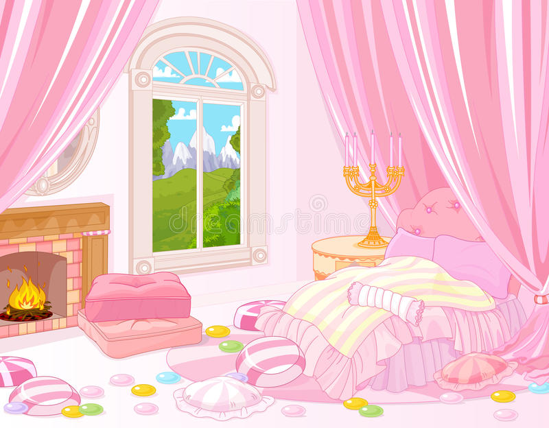 Sweet Bedroom vector illustration