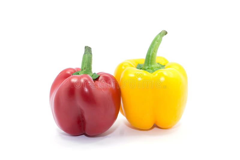 Sweet bell pepper isolated on white background cutout royalty free stock photography