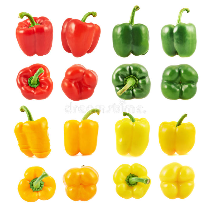 Free Sweet Bell Pepper Set Isolated Stock Photo - 48062310