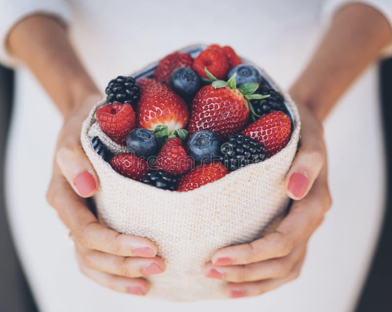 Sweet berries mix stock image