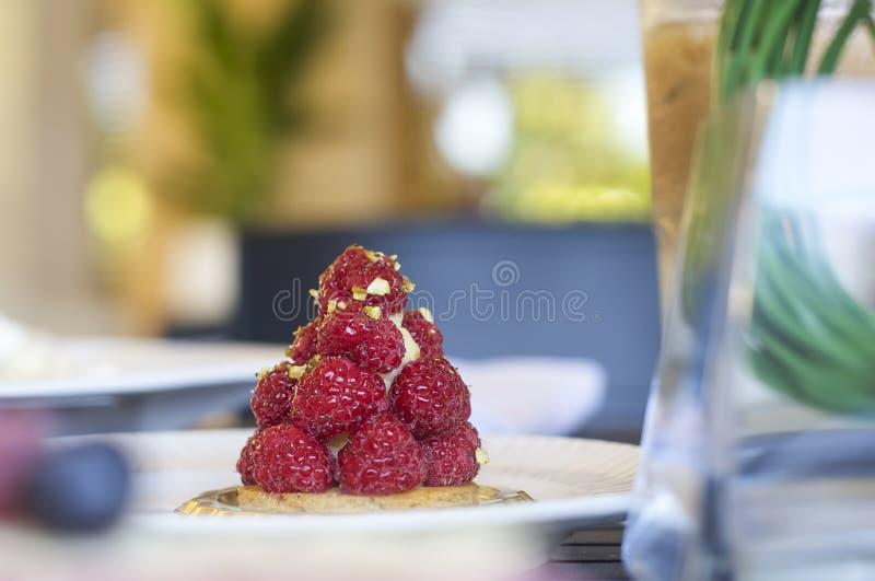Sweet berry tart. royalty free stock photos