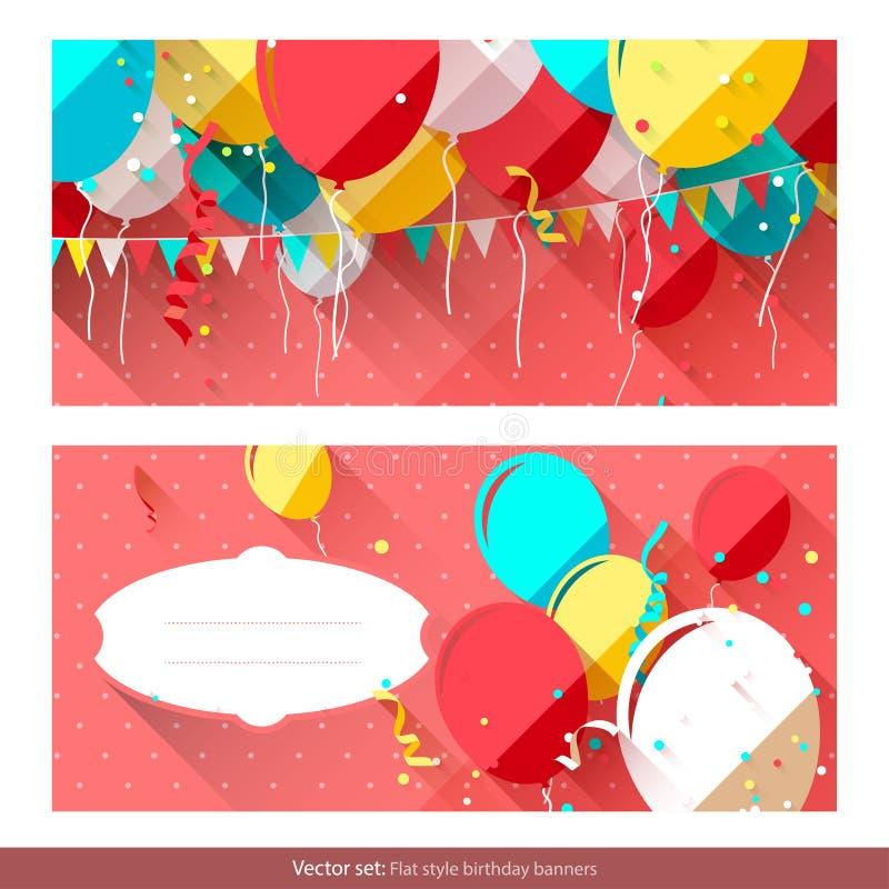 Sweet Birthday Banners Stock Vector