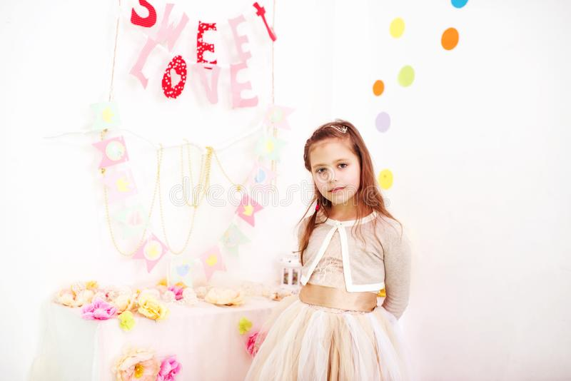 Sweet birthday girl royalty free stock photo
