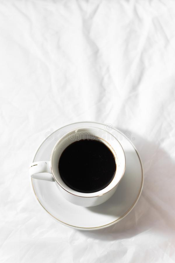 Sweet black coffee. A cup of black cofee stock photos