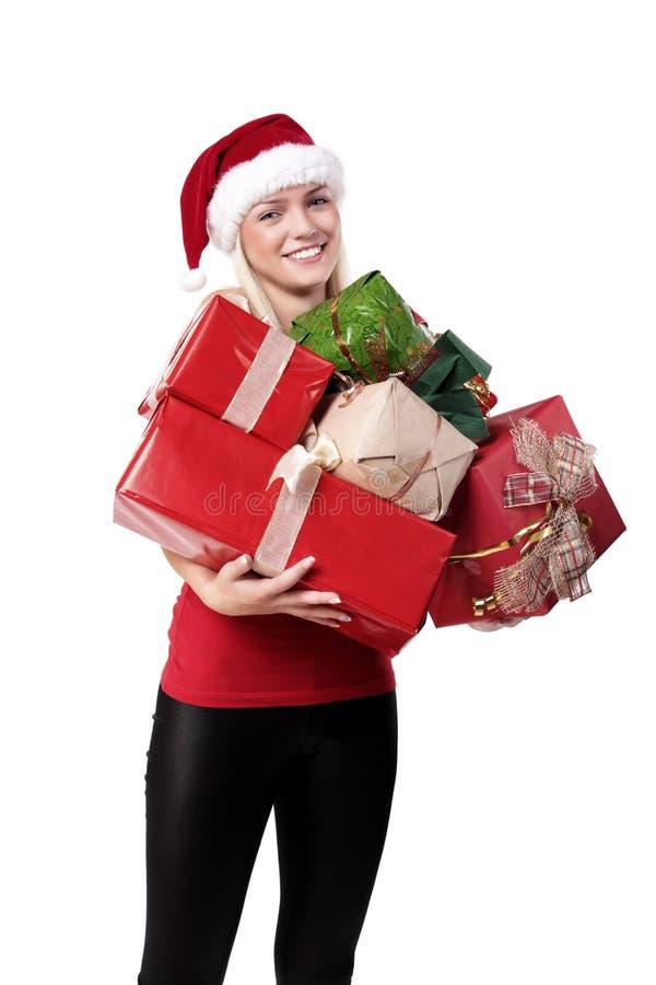 Download Sweet Blond Santa Girl stock photo. Image of fashion - 11589094