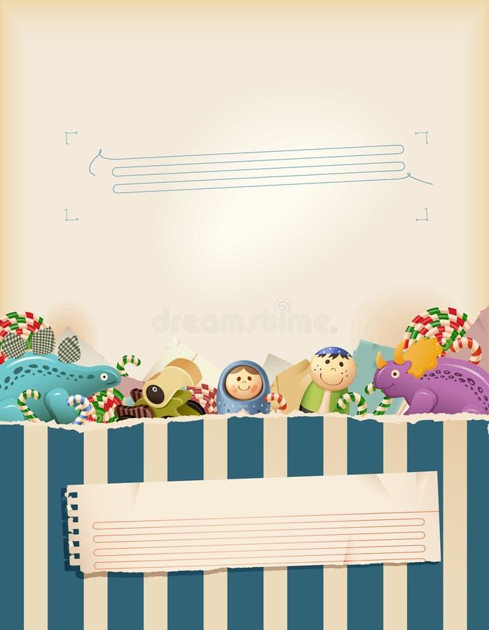 Download Sweet Blue Childhood Memories Stock Vector - Illustration of dinosaur, education: 18971268