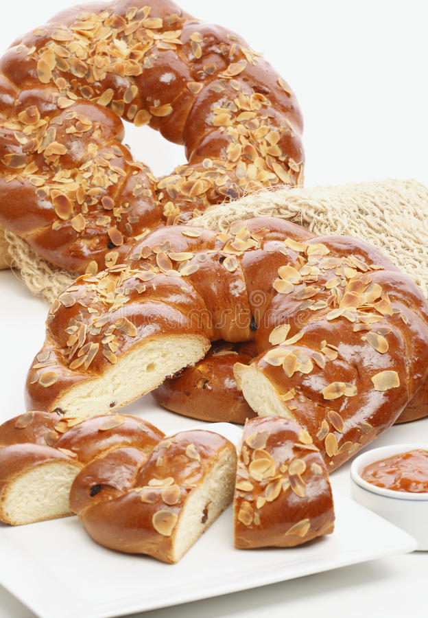 Sweet Braided Bread royalty free stock photography