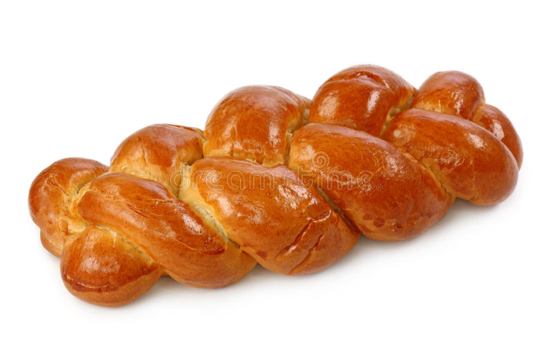 Sweet bread plait royalty free stock photo