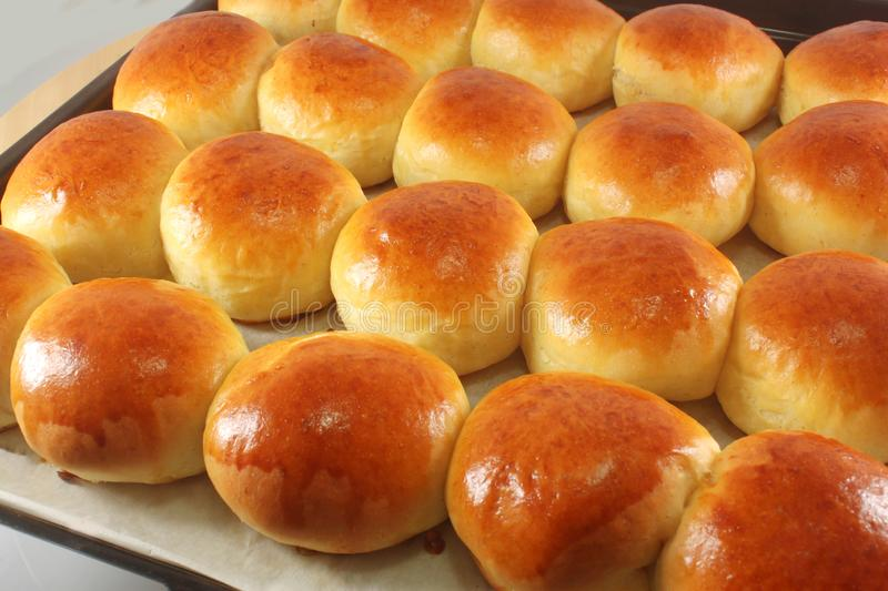 Sweet buns, brioches royalty free stock photography