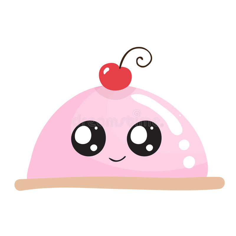 Sweet cake with funny face. Vector illustration vector illustration