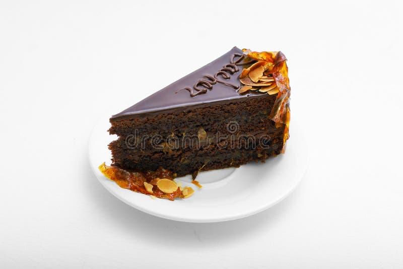 Sweet cake with orange background food lemon royalty free stock photos