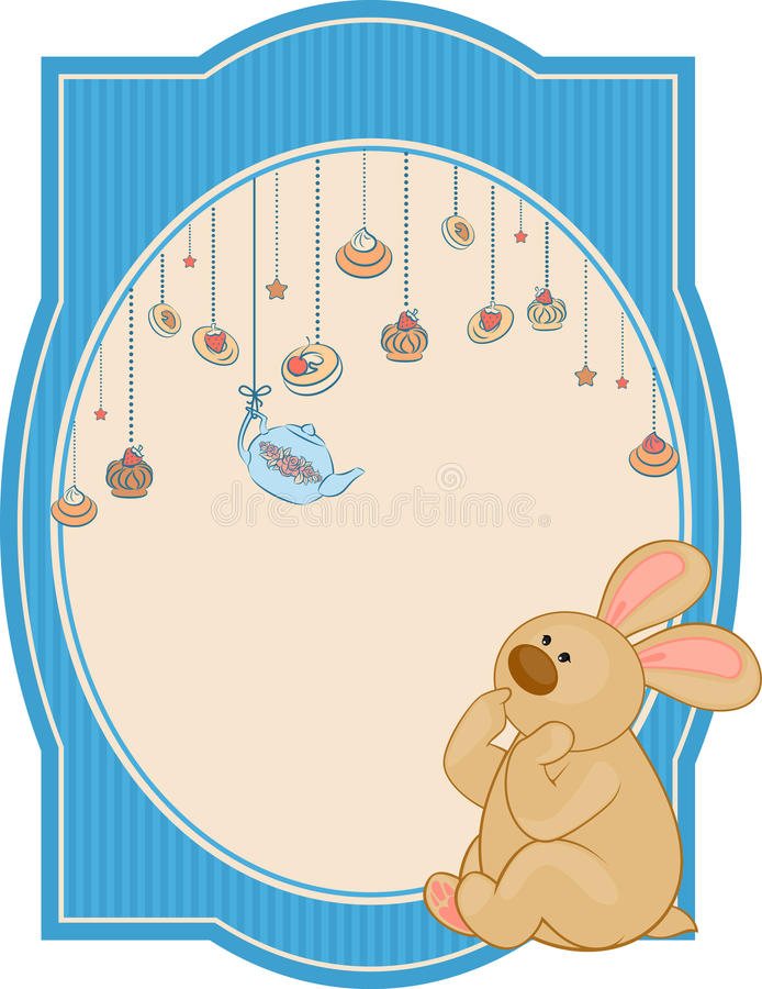 Download Sweet cakes and rabbit stock vector. Illustration of decoration - 21033250
