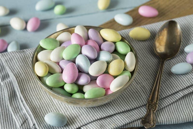 Sweet Candied Jordan Almonds stock photo