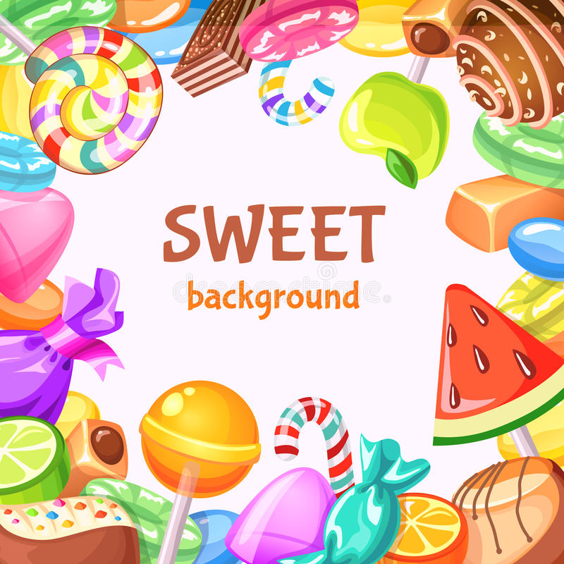 Sweet Candy Background vector illustration