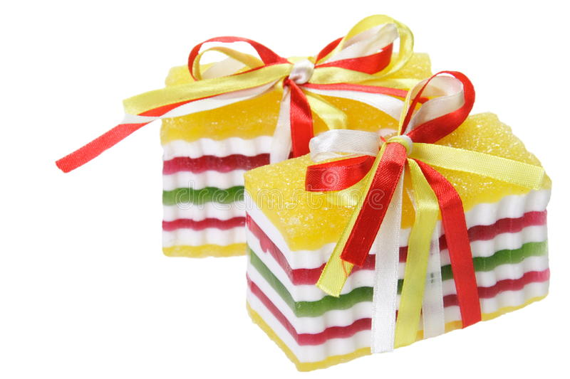 Sweet Candy Jelly with Ribbons royalty free stock photos
