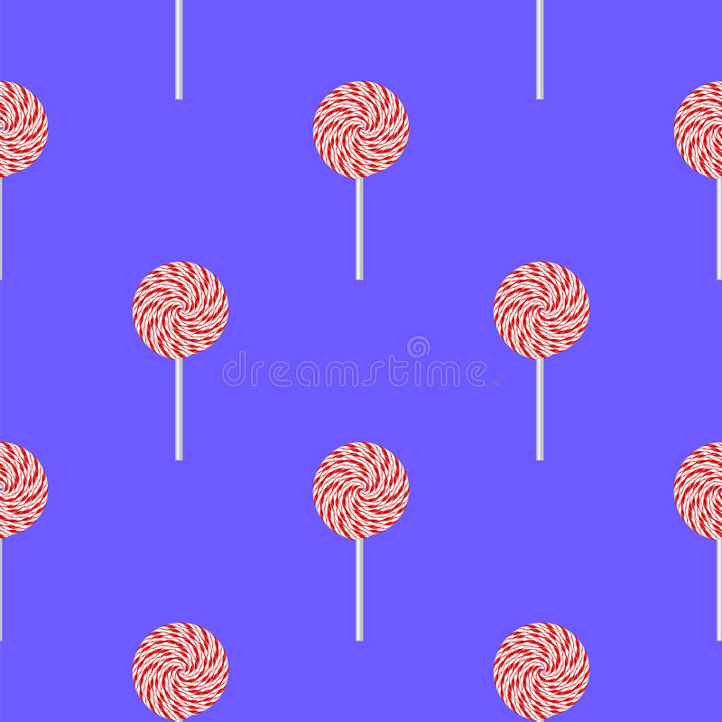 Sweet Candy Seamless Pattern royalty free illustration