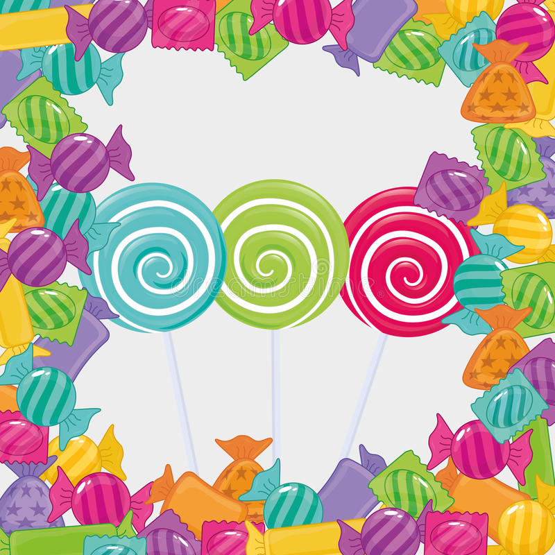 Sweet candy shop. Icon vector illustration graphic design stock illustration