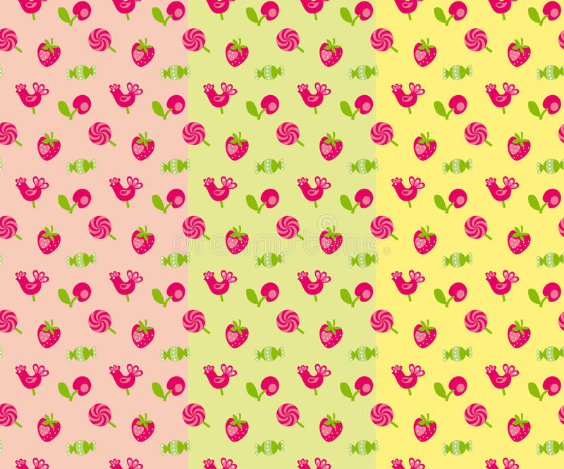 Sweet candy. Vector pattern illustration of sweet candy royalty free illustration