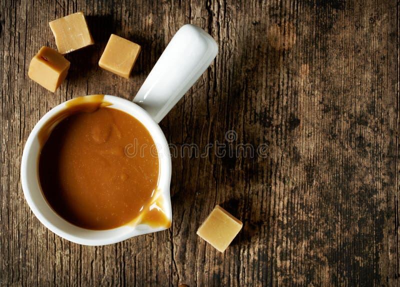 Sweet caramel sauce royalty free stock photo