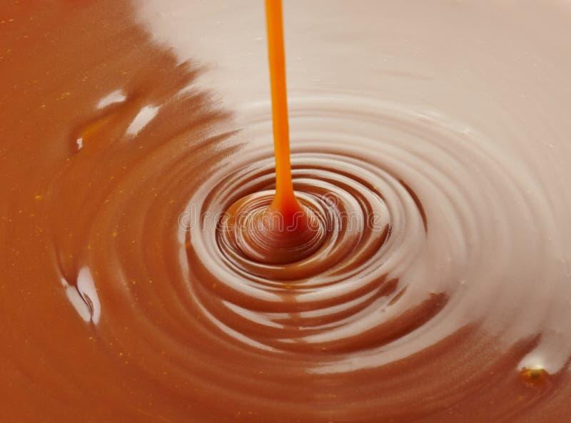 Sweet caramel sauce royalty free stock photography