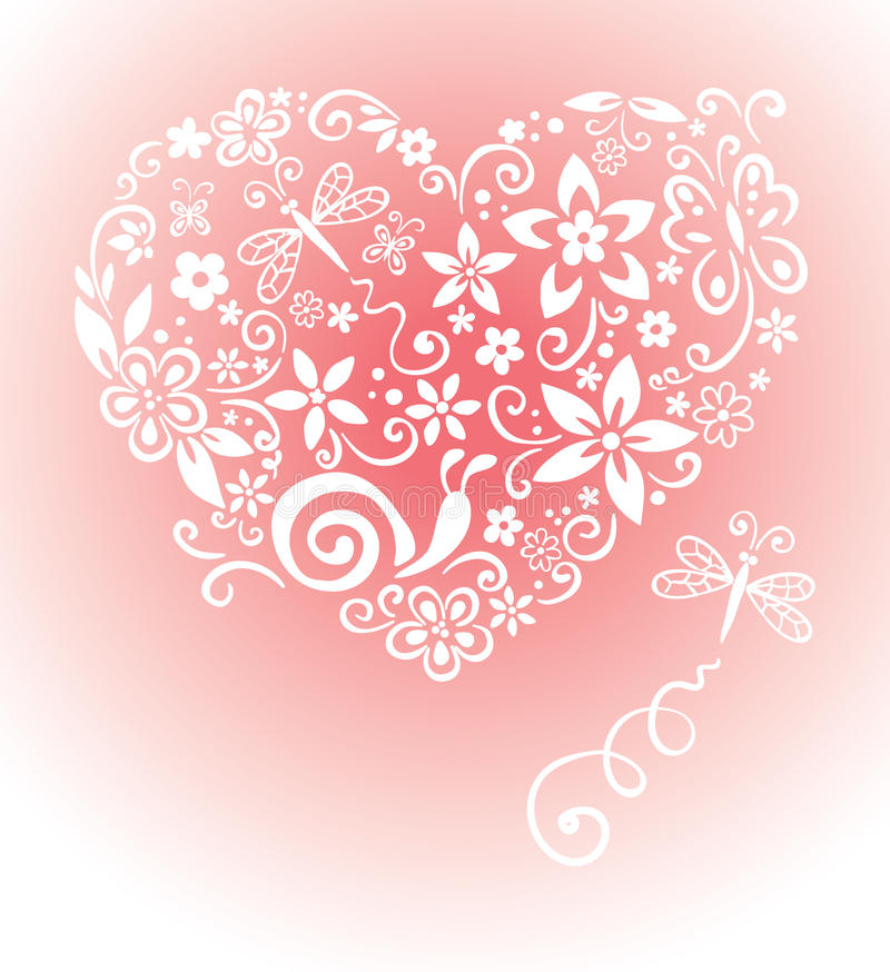 Sweet card with a heart stock illustration