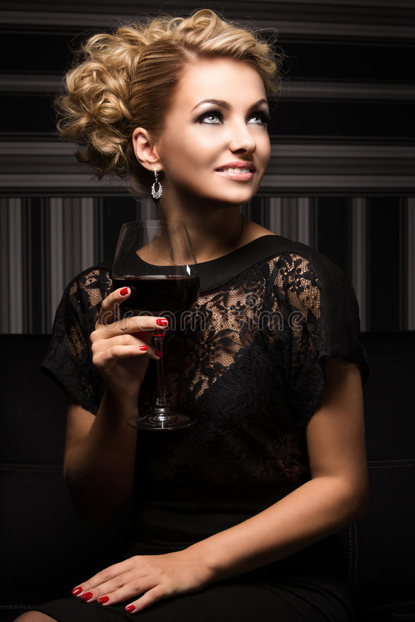 Sweet and charming lady with unknown secrets stock image
