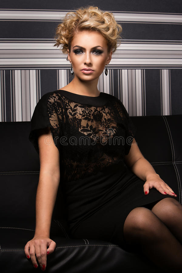Sweet and charming lady with unknown secrets royalty free stock photo