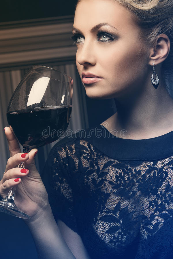 Sweet and charming lady with unknown secrets royalty free stock images