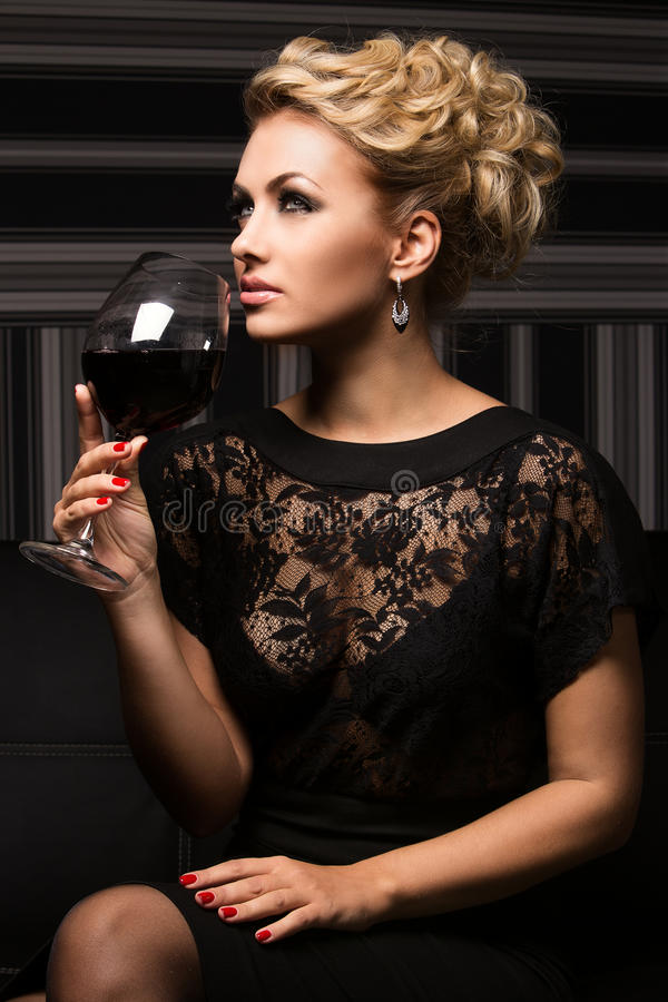Sweet and charming lady with unknown secrets royalty free stock photography