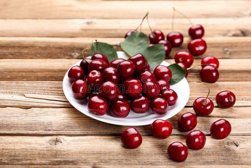 Sweet cherries royalty free stock photo