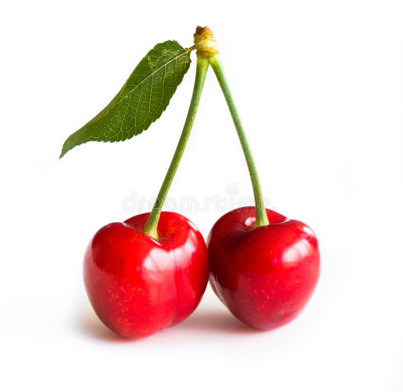 Sweet cherry background stock image