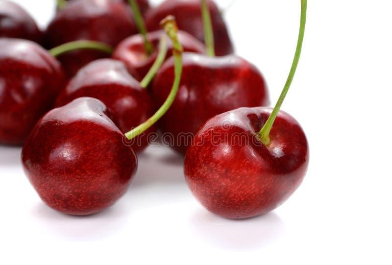 Sweet cherry berries on white background stock photo