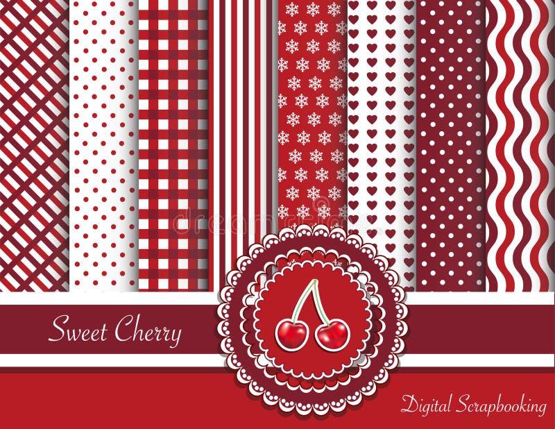 Sweet cherry digital scrapbooking