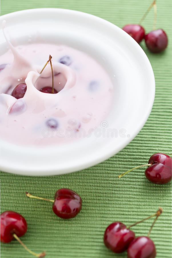 Sweet cherry soup royalty free stock photo