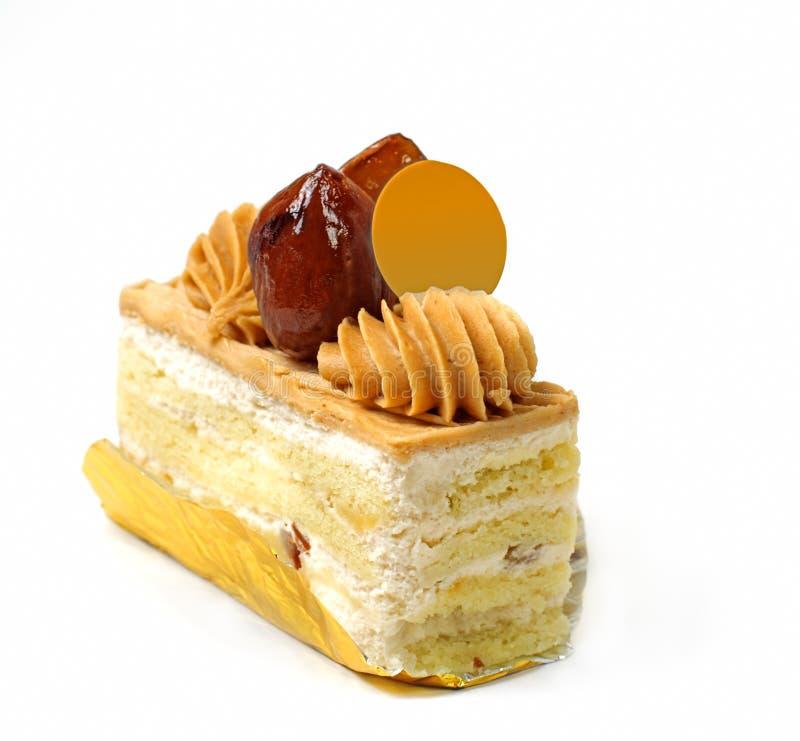 Sweet chestnut cake stock photo