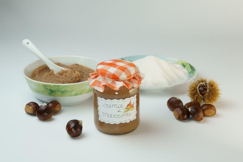 Sweet Chestnut Jam stock images
