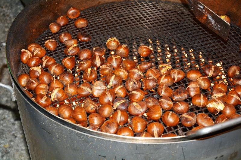 Sweet chestnuts, background stock photos