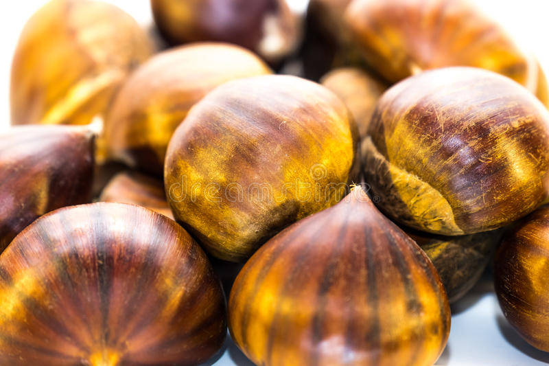 Download Sweet Chestnuts Isolated Stock Photo - Image: 83704525