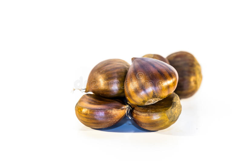 Download Sweet Chestnuts Isolated Stock Photo - Image: 83704608