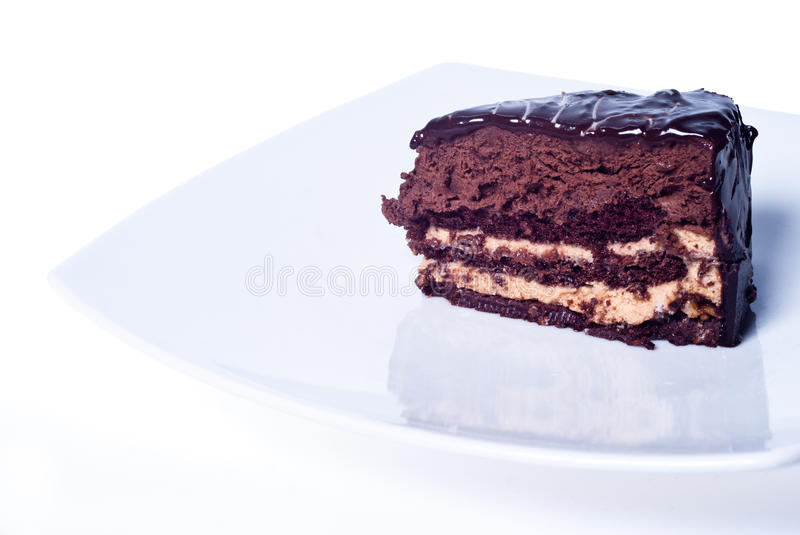 Download Sweet chocolate cake stock image. Image of candied, fattening - 38126477