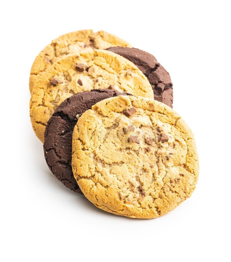 Sweet chocolate cookies royalty free stock photos