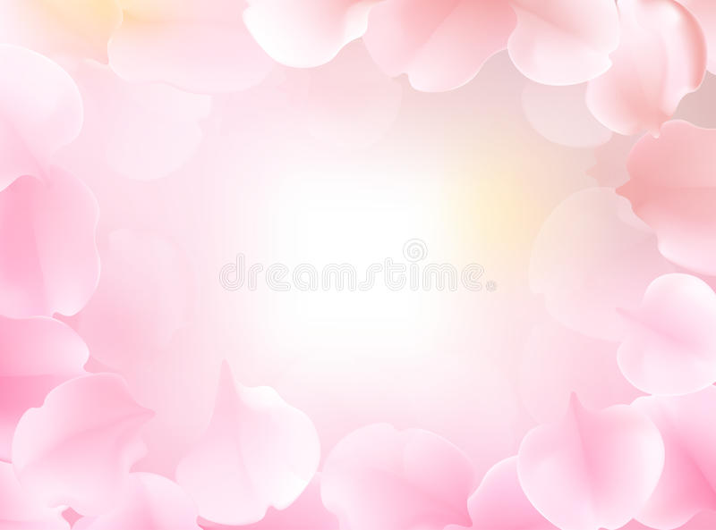 Sweet color flower in soft color and blur style for background royalty free illustration