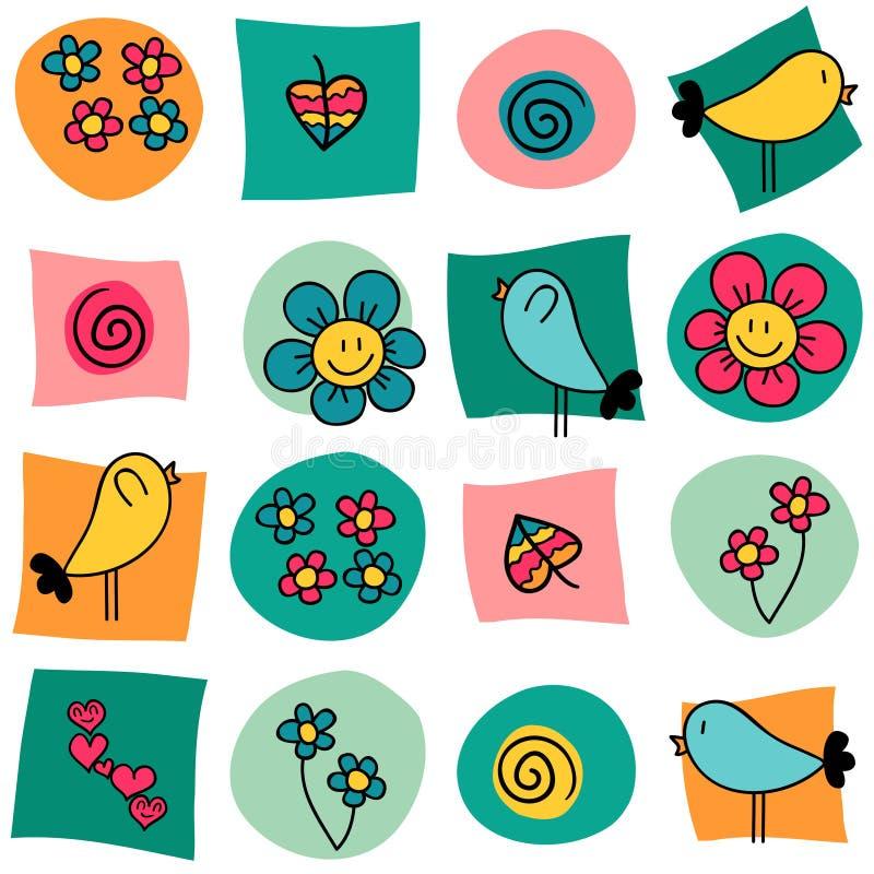Sweet colorful seamless pattern