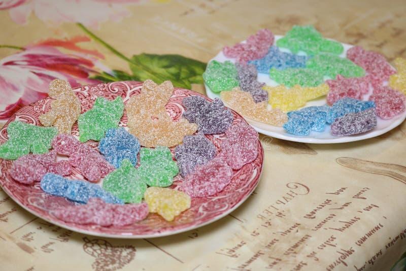 Sweet coloured sugar gummy bear royalty free stock photo