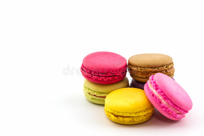 Sweet and colourful french macaroons or macaron, Dessert. stock photography